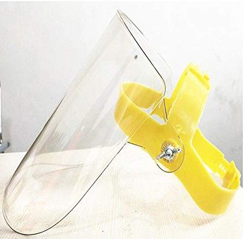Beschermend vizier Veiligheid Anti Fog Splash Volgelaatsscherm Doorzichtig plastic vizier Eye Head Hat Anti Speeksel Splash voor buitenkeuken,A