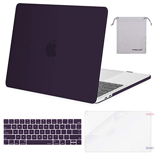 MOSISO MacBook Pro 13 inch Case 2019 2018 2017 2016 Release A2159 A1989 A1706 A1708, Plastic Hard Shell &Keyboard Cover &Screen Protector &Storage Bag Compatible with MacBook Pro 13, Lavender Purple