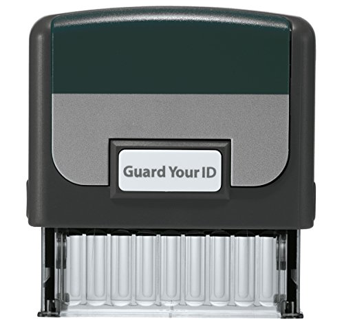 """Identity Theft Prevention Confidential Security Stamp 2.25"""" x 0.75"""" Black"""
