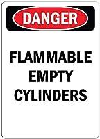 装飾的なサイン家の装飾プラークインチ、危険サイン-可燃性の空のシリンダー、私有財産のための警告サイン金属、屋外の危険サイン