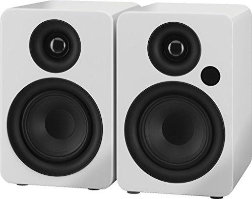 IMG STAGELINE SOUND-4BT/WS Aktives 2-Wege-Stereo-Lautsprecherboxen-System weiß