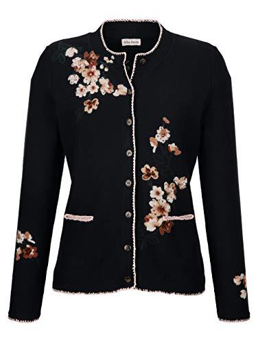 Alba Moda Damen Strickjacke in Marineblau aus Baumwolle im exclusiven Dessin