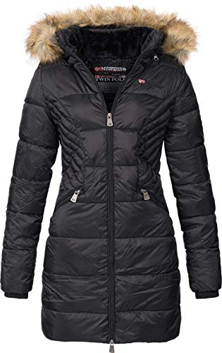 Geographical Norway Abby - Chaqueta Acolchada para Mujer (Negro, M)