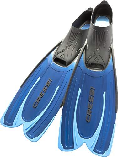 Cressi Agua -  Unisex Premium Flossen Self Adjusting zum Tauchen,  Apnoe,  Schnorcheln und Schwimmen, Blau (Hellblau), 35/36