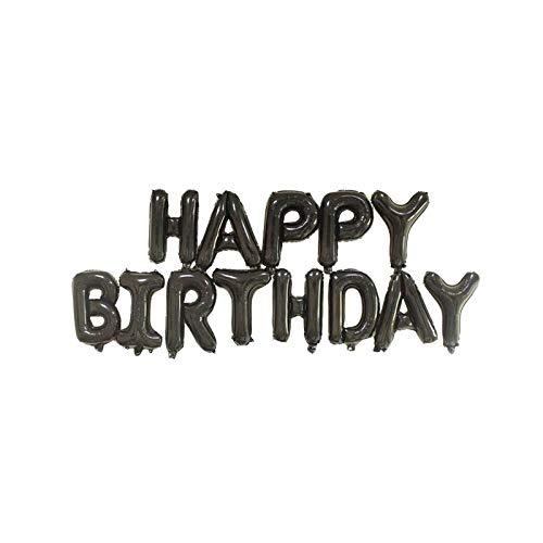 16 tum Letters GRATTIS Folie Ballonger lycklig födelsedag Party Decoration Barn alfabetet Air Ballonger Baby Dusch Supplies (Color : Black rose gold)
