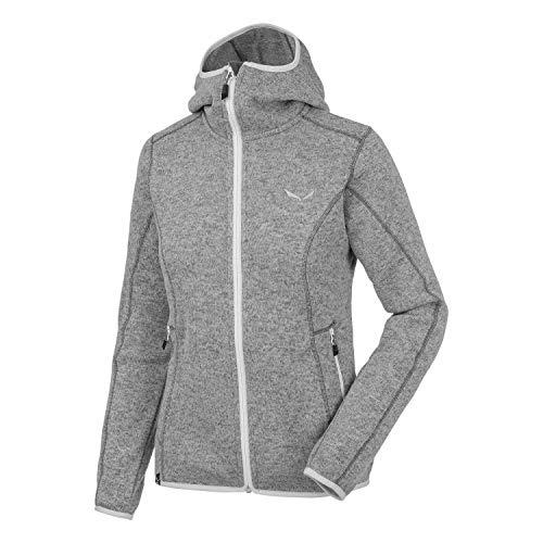Salewa Kitz SMU Pl Veste polaire à capuche zippée pour femme 44 Gris (0100)