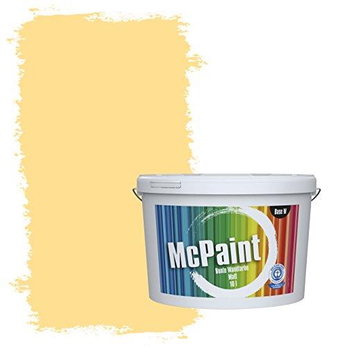 McPaint Bunte Wandfarbe Zitronengelb - 2,5 Liter - Weitere Gelbe Farbtöne Erhältlich - Weitere Größen Verfügbar