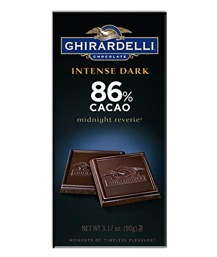 Ghirardelli Chocolate Intense Dark Bar, Midnight Reverie, 3.17 Oz, Pack of 6