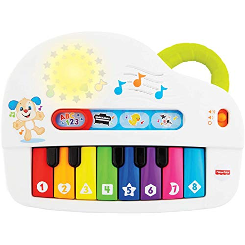 Piano Cachorrinho, Aprender e Brincar, Fisher Price, Mattel