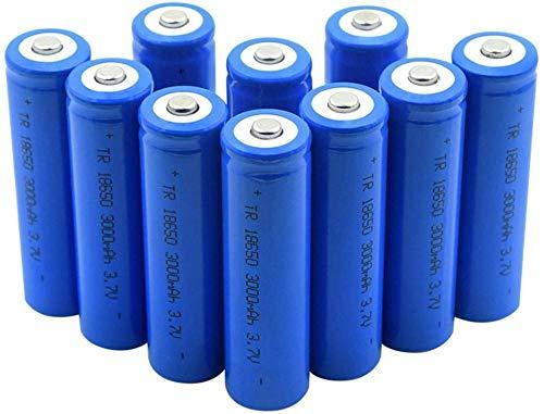 18650 3.7v 3000mah Batería Cargador de Litio Batería Li Ion Cell para Linterna 10pcs