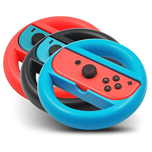 KEHUITONG 2pcs / Paire Controller Grip Gamepad Joy Game Case Con for Nin commutateur Poignée NS N-Switch Accessoires Console de Jeux (Couleur : 1 Red 1 Blue)