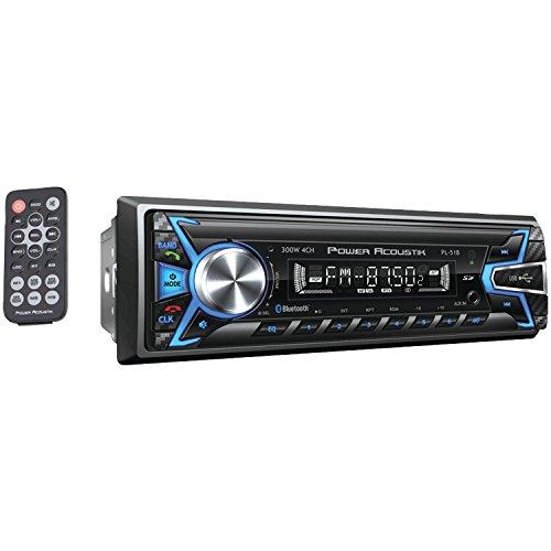 Power Acoustik PL-51B - Unidad de Audio Digital 1 DIN, 32 GB, USB/SD/AUX/Bluetooth