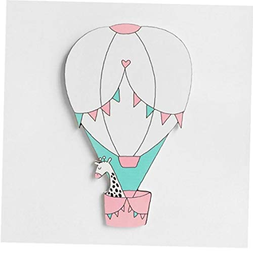 1pc 3d Wooden Hot Air Balloon Wall Sticker Nordic Newborn Baby Bedroom Diy Craft Decoration Photo Props (random Style)