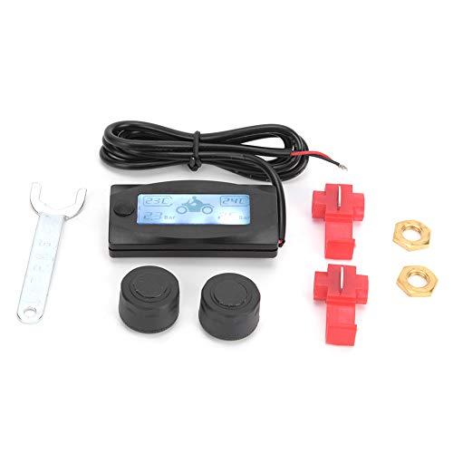Terisass Sistema de monitoreo de presión de neumáticos TPMS de Motocicleta Monitor en Tiempo Real para Honda/Yam-aha/Kawa-Saki/Suz-uki