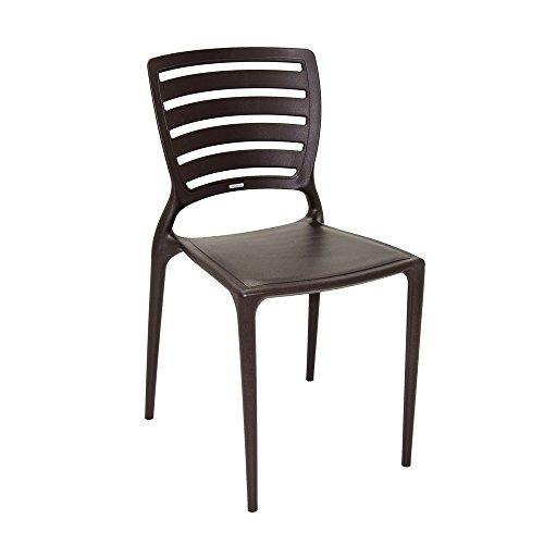 Cadeira Sofia Tramontina 92237109 Encosto Horizontal Marrom