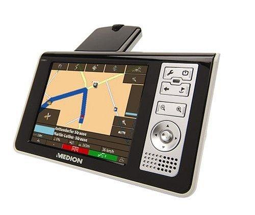 Medion MD 95305 PNA200 GPS Auto-Navigationssystem inkl. 256 MB MMC Speicherkarte, Kartenmaterial für D (auf MMC-Karte vorinstalliert)