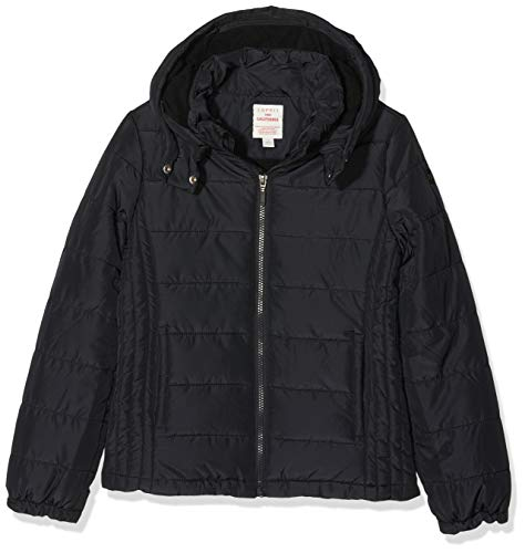 ESPRIT KIDS Mädchen RP4208509 Outdoor Jacket Jacke, Schwarz (Black 020), 128 (Herstellergröße: XS)