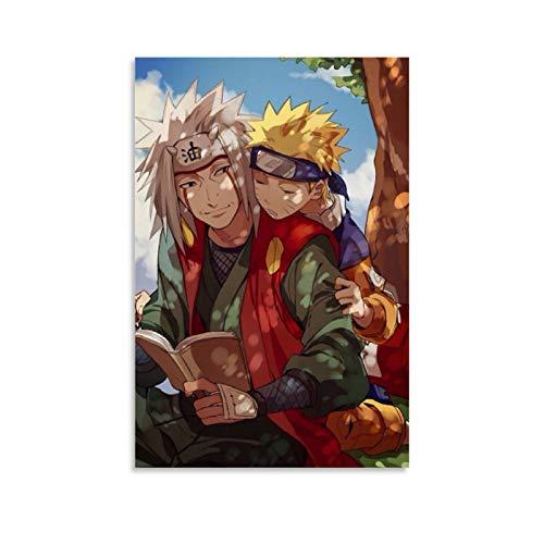 DRAGON VINES Póster de Naruto Jiraiya y Naruto de Anime - Póster de la celebridad (20 x 30 cm)
