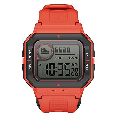 Amazfit Neo Smart Watch Reloj Inteligente 28 Días Batería 5 ATM Sensor Seguimiento Biológico Frecuencia Cardíaca iOS & Android Rojo