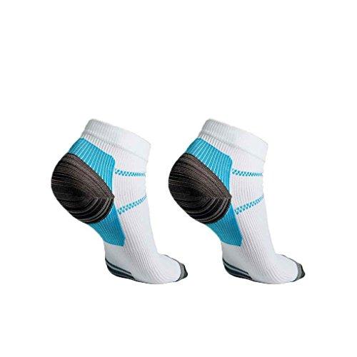 HaiDean Compressiesokken, uniseks, nonchalant hielspoor, moderne hielspoor, pijnlijk, fatigue, anti sokken, breien, voor mannen en vrouwen