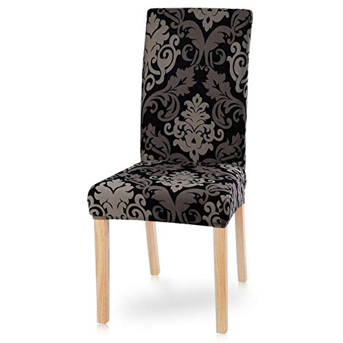 BTKNOO 1/2/4/6Pcs Stretch Seat Chair Covers Printed Elastic Chair Cover Spandex Slipcovers For Dining Room Wedding Banquet Hotel,1,United States