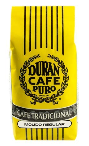 Cafe Duran Cafe Tradicional Best Panama Coffee Regular Ground 1 Pound Freshly Imported. High Quality Coffee From the Highlands of Chiriqui (Boquete)
