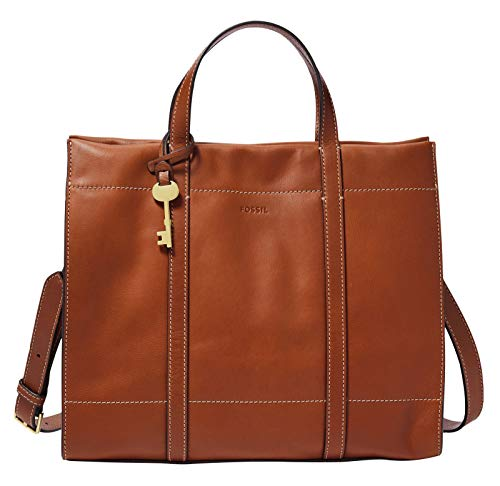 Fossil Womens Carmen Shopper, Brown, 30.8102 cm x 12.065 cm x 26.3652 cm