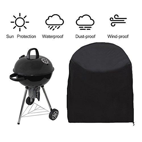 Siminliu Housse de Protection Barbecue ,Barbecue Couverture, capot   Bonne Étui étanche Outdoor, compatible avec barbecue Cover   77 * 58 cm – Noir