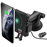 Caricatore Wireless Supporto Smartphone Auto, 10W Caricabatterie Wireless Qi Air Vent Mount Cellulare per Samsung Galaxy S10/S9/S9+/S8/S8+/Note 8,iPhone XS Max XR X 8 Plus e Dispositivi Qi-Enabled