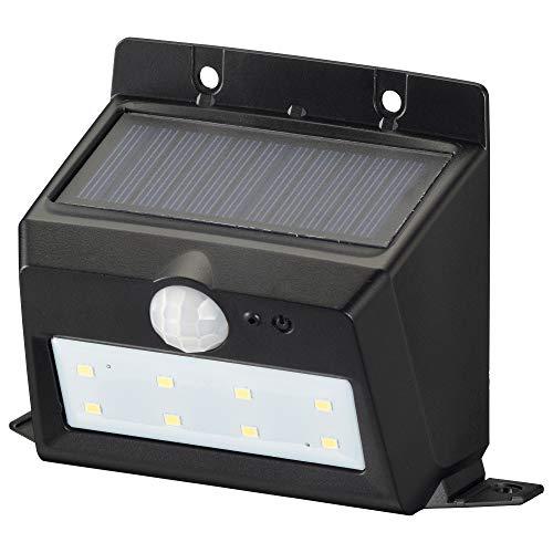 オーム電機 センサーウォールライト(200lm/ソーラー充電式/白色LED/ブラック) LS-S120PN4-K