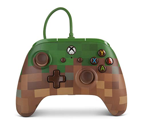 PowerA Enhanced Wired Controller für Xbox One – Minecraft-Gras-Block