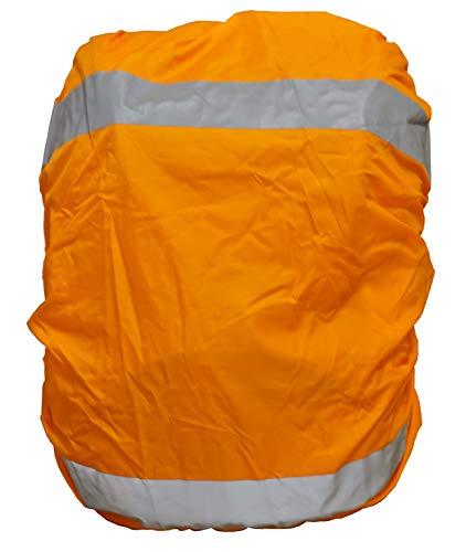 EANAGO Premium Regenschutz/Regenüberzug für Schulranzen, Rucksack, Fahrradtaschen. 100% wasserdicht (Orange)
