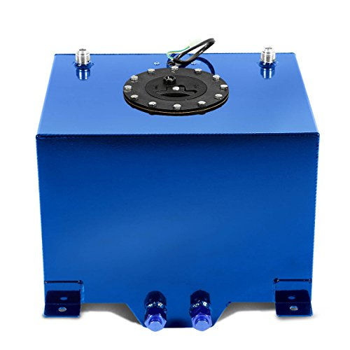 DNA MOTORING ALU-FT-T3-BL Aluminum 8-Gallon Fuel Cell Gas Tank,Blue