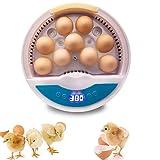 JIEZ Incubadora de 9 Huevos, máquina automática de incubación...