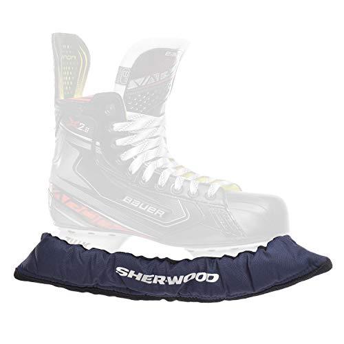 SHER-WOOD - Senior Pro Eishockey elastische Kufenstrümpfe für Eishockey- & Schlittschuhe, 2 Stück, marine