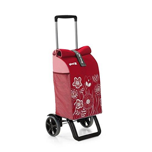 Gimi Trolley Rolling, Einkaufstrolley, Thermotasche, rot, 50 l Volumen, 30 kg Tragekraft, Teleskop