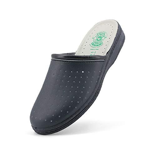 JOMIX Zuecos sanitarios para mujer/hombre, fabricados en Italia, sandalias sanitarias para mujer/hombre anatómicas Azul Size: 43 EU