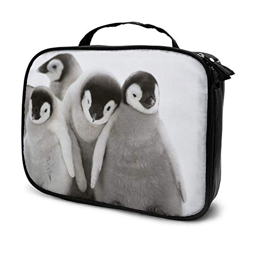 Many Penguins Cute Makeup Bag Cosmetic Organizer Toiletry Beauty Case Travel Pouch