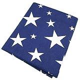 50* 160cm de estrellas azules material de costura de tela de algodón Colchas De para el bebé cojín patchwork telas