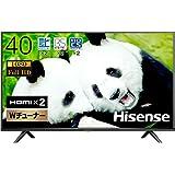 ハイセンス 40V型 フルハイビジョン 液晶テレビ ダブルチューナー 外付けHDD裏番組録画対応 3年保証 40H38E