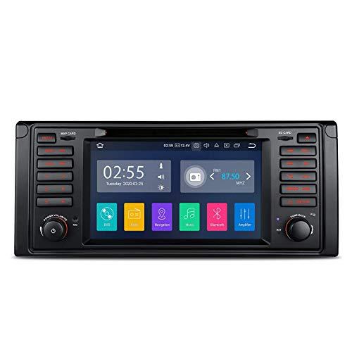 Unidad principal con Android 10 de 7 pulgadas para BMW 7 Series E39 M5, Din único en el tablero Estéreo para automóvil Auto Radio Reproductor de DVD Soporte de navegación GPS Bluetooth MirrorLink WIF