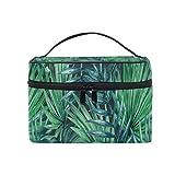 Bolsa de maquillaje Hojas de palmera Bolsa de cosméticos Bolsa de tocador grande portátil para mujeres/niñas Viajes