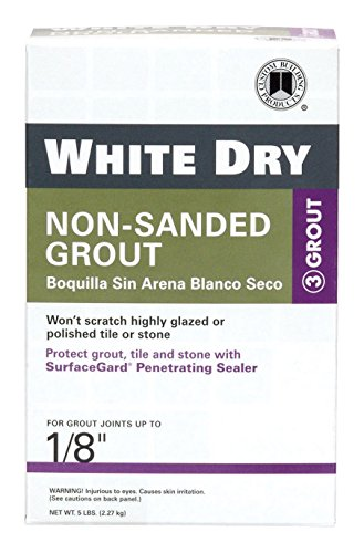 Custom Building Products WDG5-4 5 Lb White Dry Non-Sanded Tile Grout