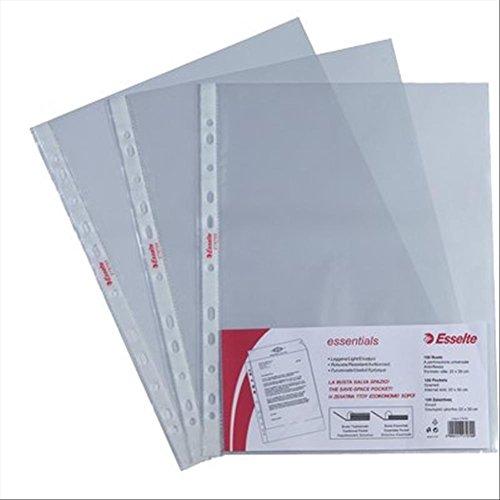 ESSELTE Buste perforate ESSENTIALS - PPL antiriflesso - f.to 22 x 30 cm - 392797000