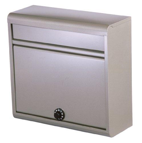 グリーンライフ(GREEN LIFE) 郵便ポスト 薄型スチールポスト ダイヤル錠 FH-614D(TGY) A4封筒が入る チタン...