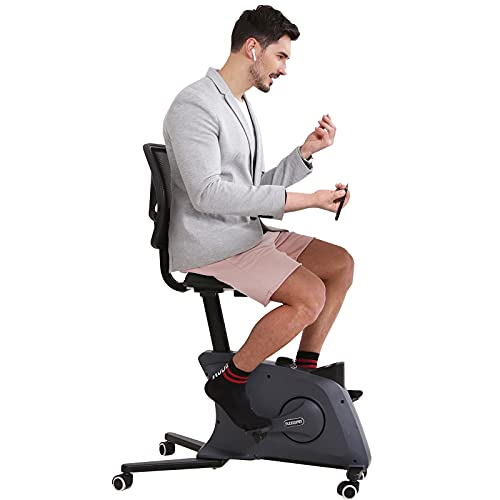 FLEXISPOT Sit2Go Desk Chair Fitness Chair Adjustable Exercise Workstation Cycle Desk Bike for Home and Office, Black - Pro