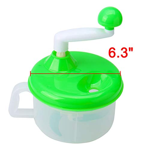 uxcell Household Kitchen Broke Dishes Vegetable Grinder Chopper Manual Machine Green