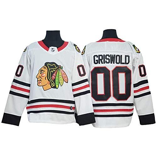Chicago Blackhawks Hockey Jerseys Jersey, Griswold # 00,Patrick Kane # 88 NHL Men Sweatshirts Men, Langarm T-Shirt,White00,L
