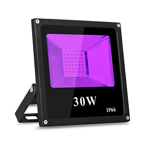 30W UV LED Schwarzlicht IP66 uv lampe TOPLANET 1 PCS Beleuchtung UV LED Strahler Flutlicht für Partys, Ultraviolette Schwarzlichtlampe für Fluoreszierende Körperfarbe