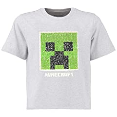 Minecraft Camiseta Lentejuelas Reversibles Niños Gris